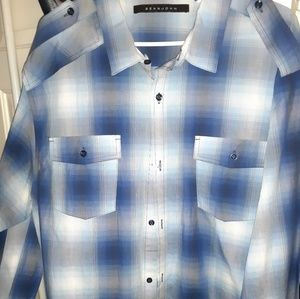 3XL SEANJOHN MENS LONG SLEEVE BUTTON UP SHIRT